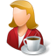 Person Coffeebreak Female Light Icon