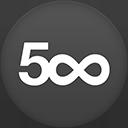 500px flat circle-128