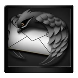 Black Mozilla Thunderbird