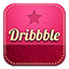 Dribbble retro icon