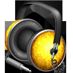 Golden Garnish headphones