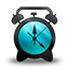 Alarm Clock black and blue icon
