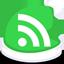 Xmas feed green icon
