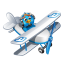 Twitter flying boy blue Icon