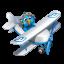 Twitter flying boy blue Icon