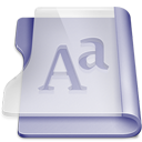 Purple font-128