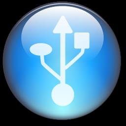 Symbol USB Circle LightBlue