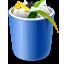 Blue Recycle Bin Full Icon