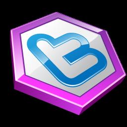 Purple shape twitter