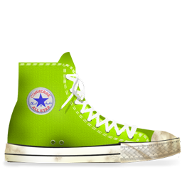 Converse Lime dirty