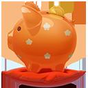 Piggybank orange-128