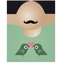 Afro man birds-128