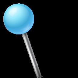 Map Marker Ball Left Azure