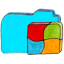 Folder b windows Icon