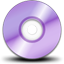 Purple Cdrom icon
