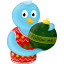 winter christmas ornament folow me icon