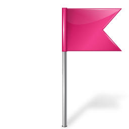 Map Marker Flag 4 Right Pink