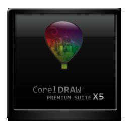 Black Corel Draw X5