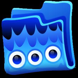 Creature Blue Folder