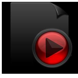 File Media black red