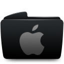 Folder black apple-128