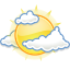 Gnome Weather Few Clouds icon