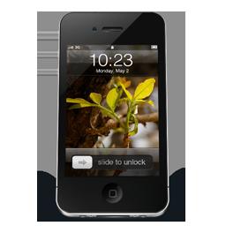 Black iPhone 4 wall