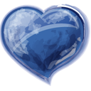 Herz blau-128