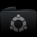 Folder black ubuntu-128