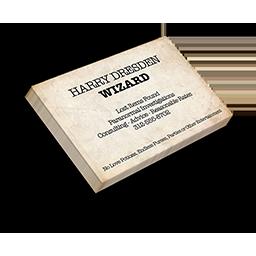 Harry Dresden Business Card
