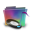 Folder rainbow music icon
