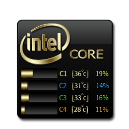 Core Temp Black and Gold
