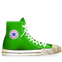 Converse Green dirty-128