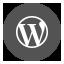 Wordpress Round icon