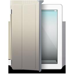 iPad 2 White beige cover