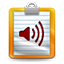 Voice notes icon