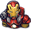 Red Chin Iron Man icon