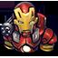 Red Chin Iron Man icon