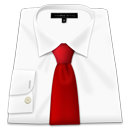 Shirt Red Tie-128