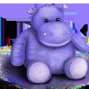 Plush Hippo-128