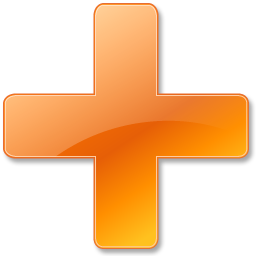Plus Orange Icon Download Base Software Icons Iconspedia