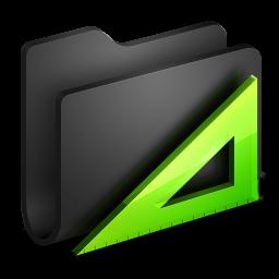 Applications Black Folder