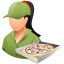 Pizzadeliveryman Female Light-128