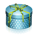 Blue Round Gift Box-128
