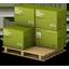 Green Cargo Boxes icon