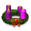 Advent Wreath Icon