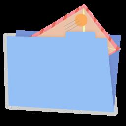 Blue folder mail alt