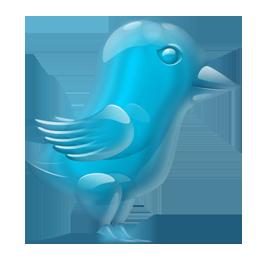 Glass Twitter Bird
