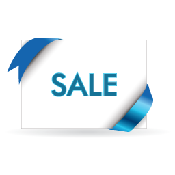 Sale blue and white