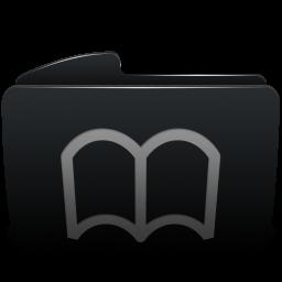 Folder black bookmarks